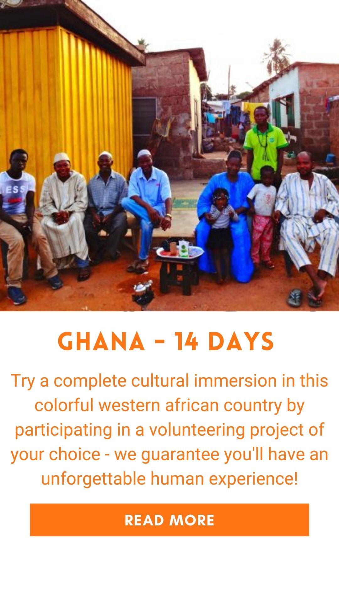 Organized trip in Ghana (volunteer trip)