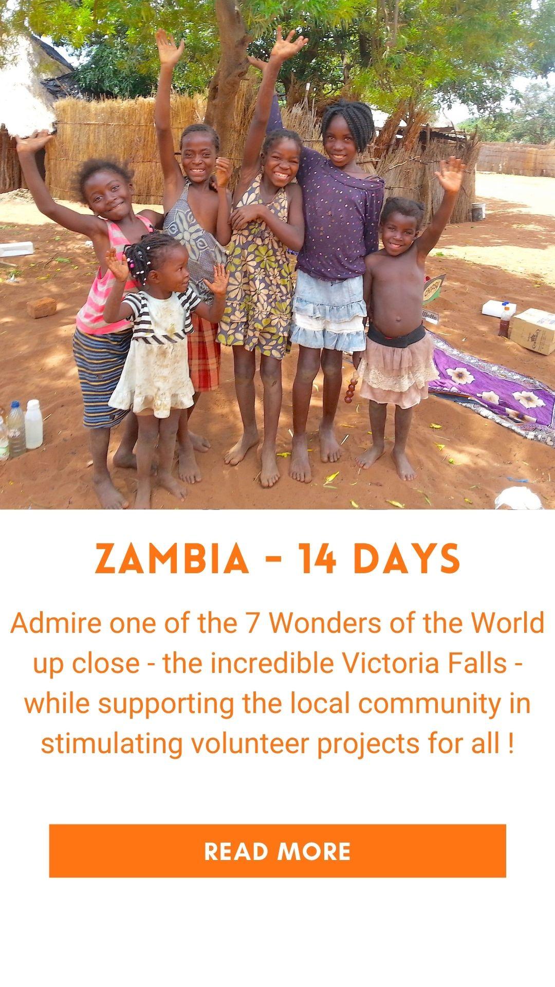 Organized trip in Zambia (volunteer trip)