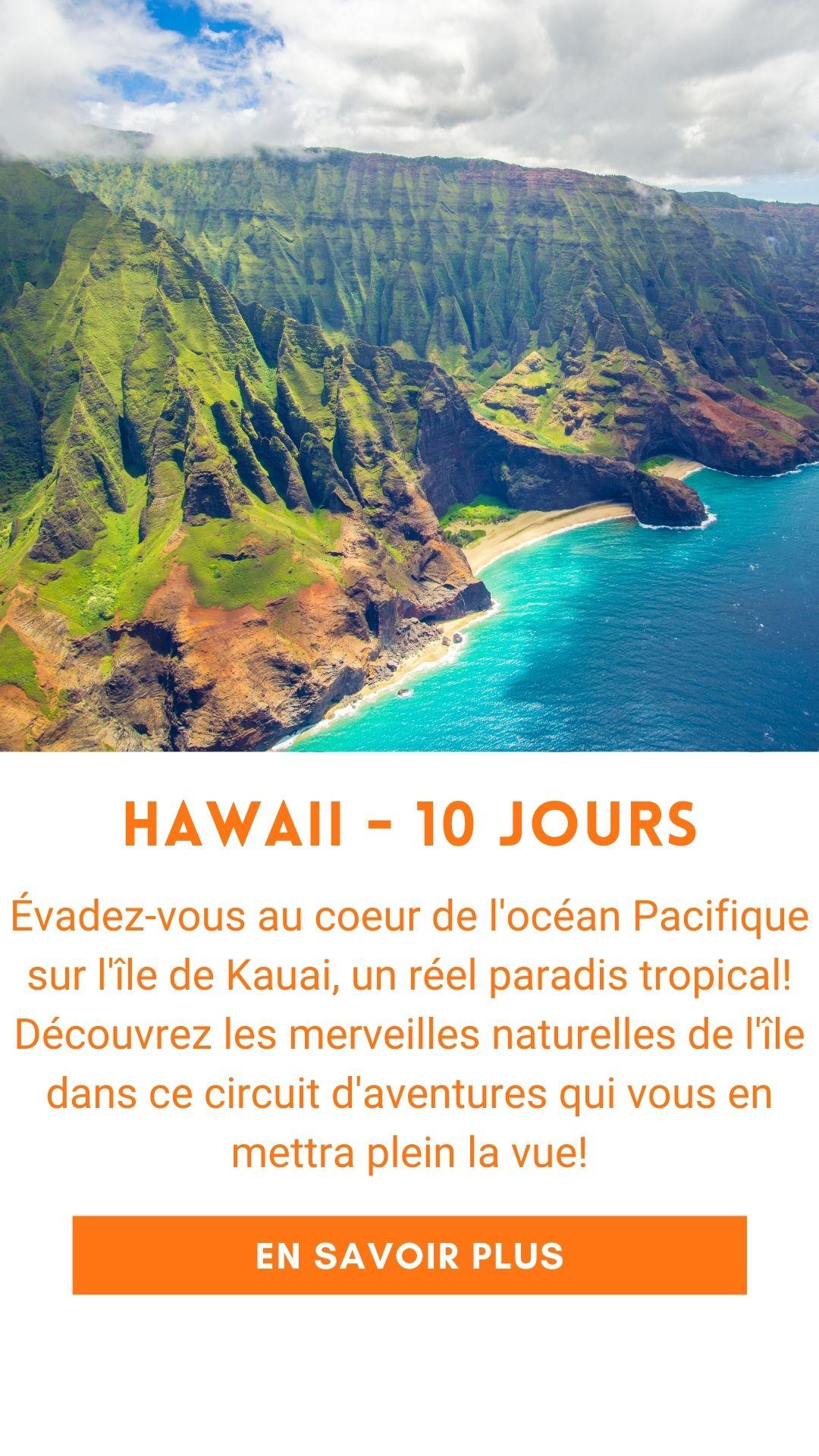 Voyage organisé à Hawaii