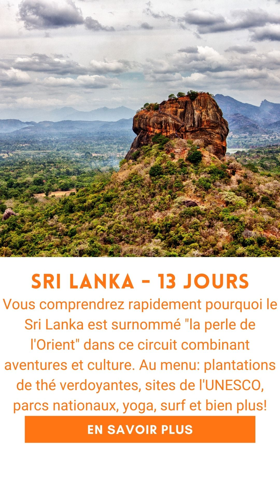 Voyage organisé au Sri Lanka