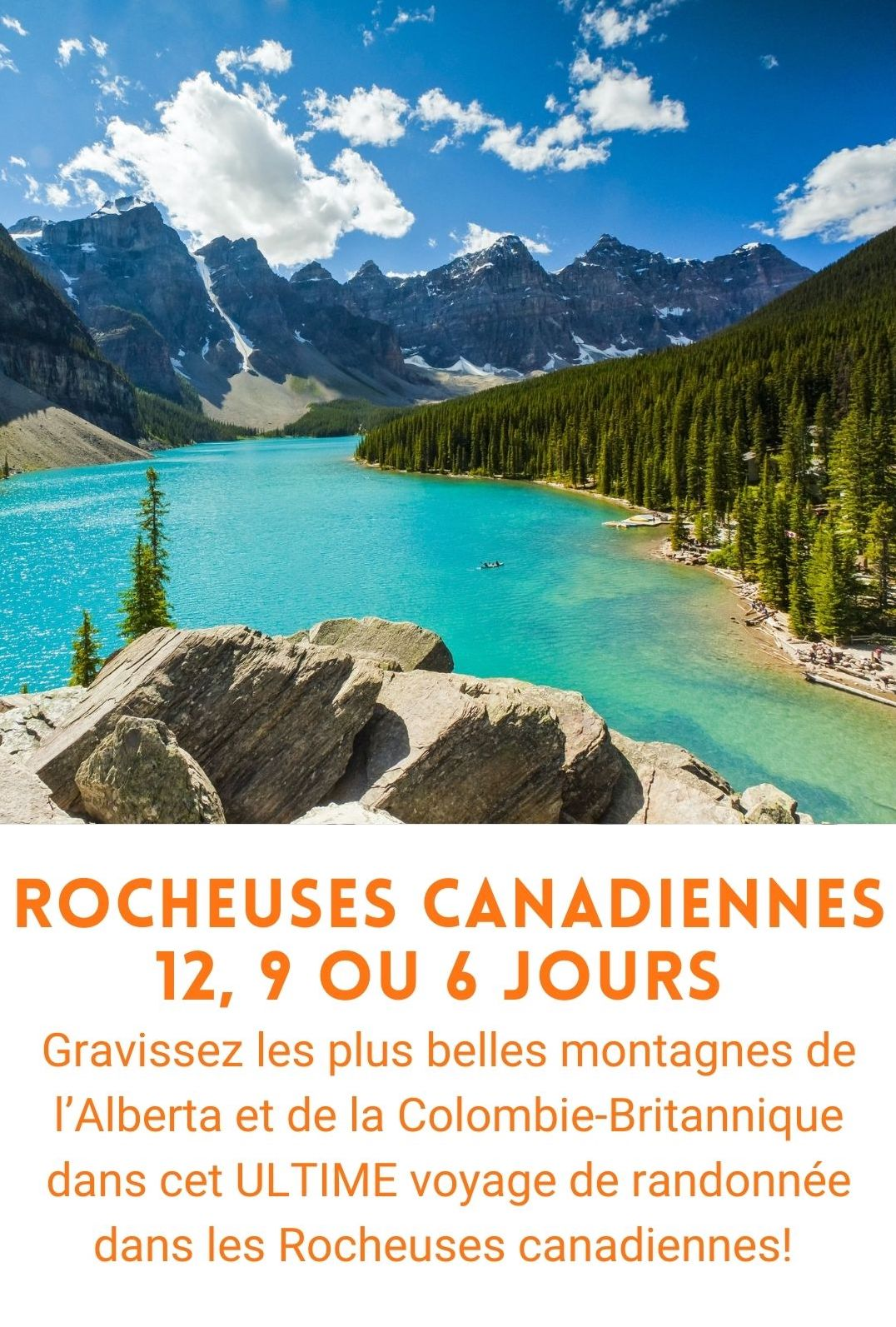 Voyage organisé Rocheuses canadiennes