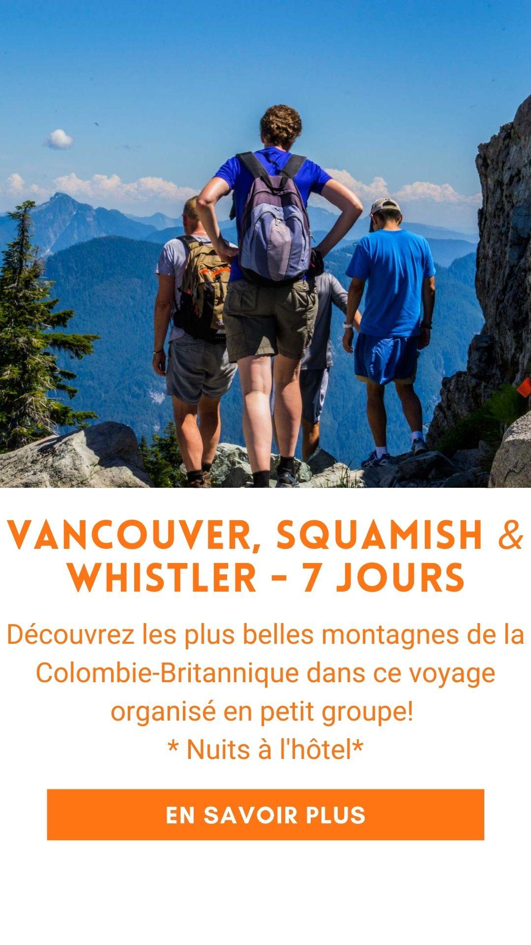 voyage organisé ouest canadien